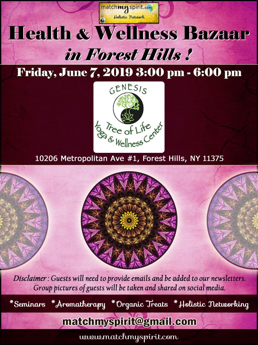 Free ! Holistic Bazaar at Yoga studio in Forest Hills, Queens