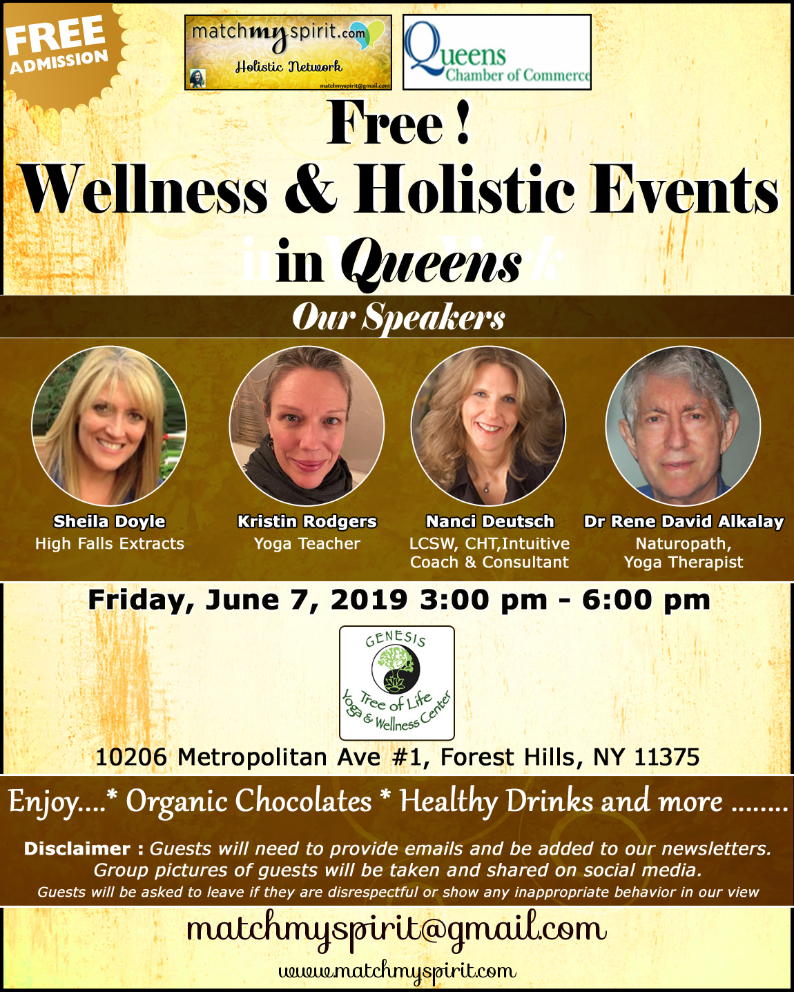 Free ! Wellness & Holistic Events in Queens