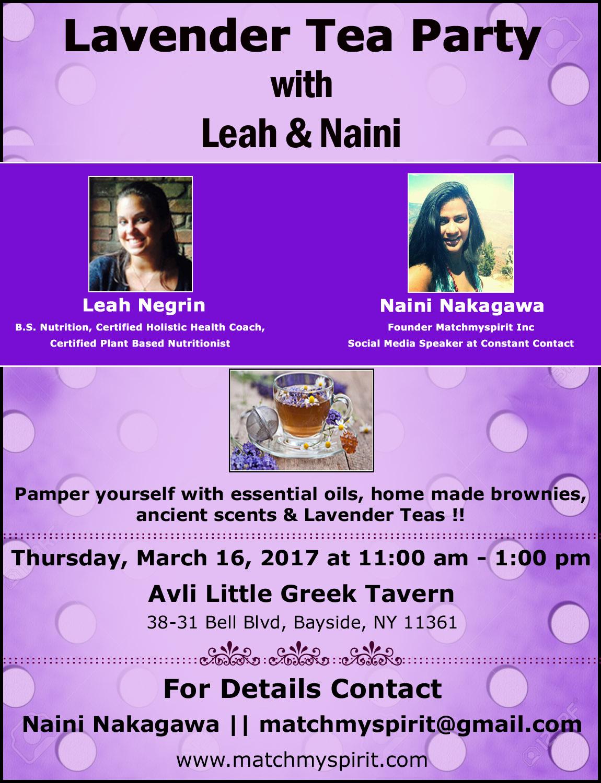 Lavender Tea Party with Leah & Naini