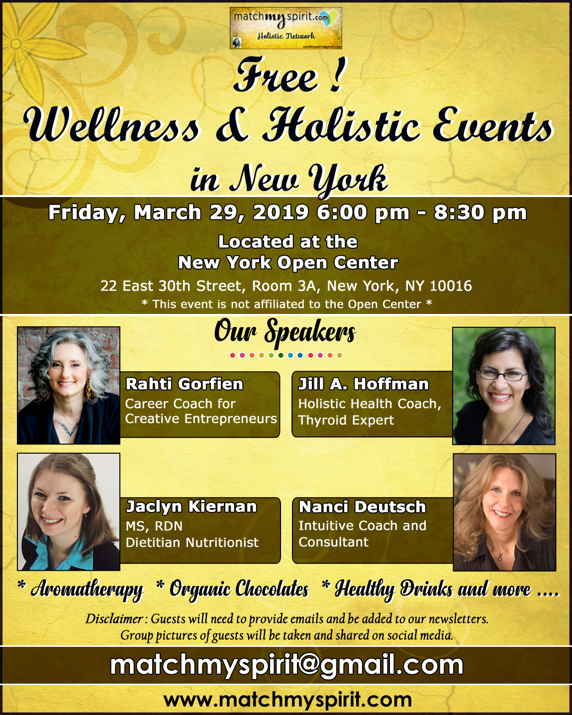 Free ! Holistic Health & Alternative Medicine Seminars