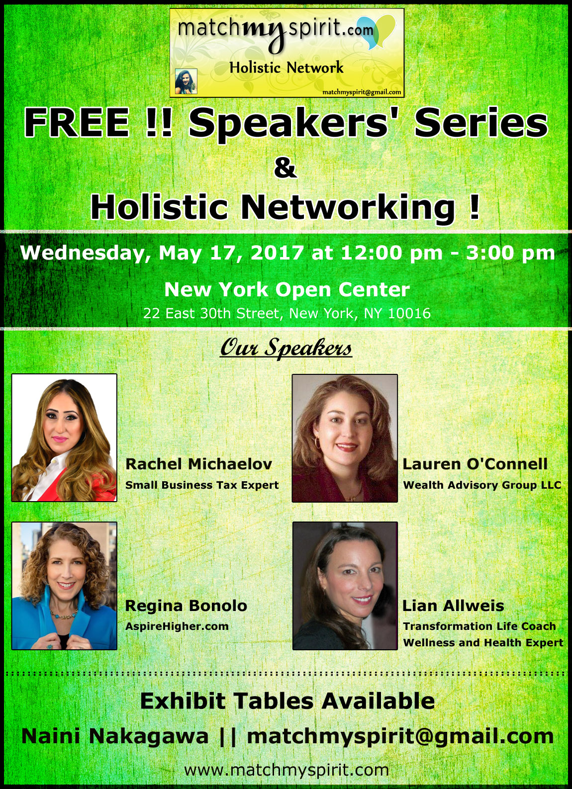 FREE!! Speakers' Series & Holistic Networking