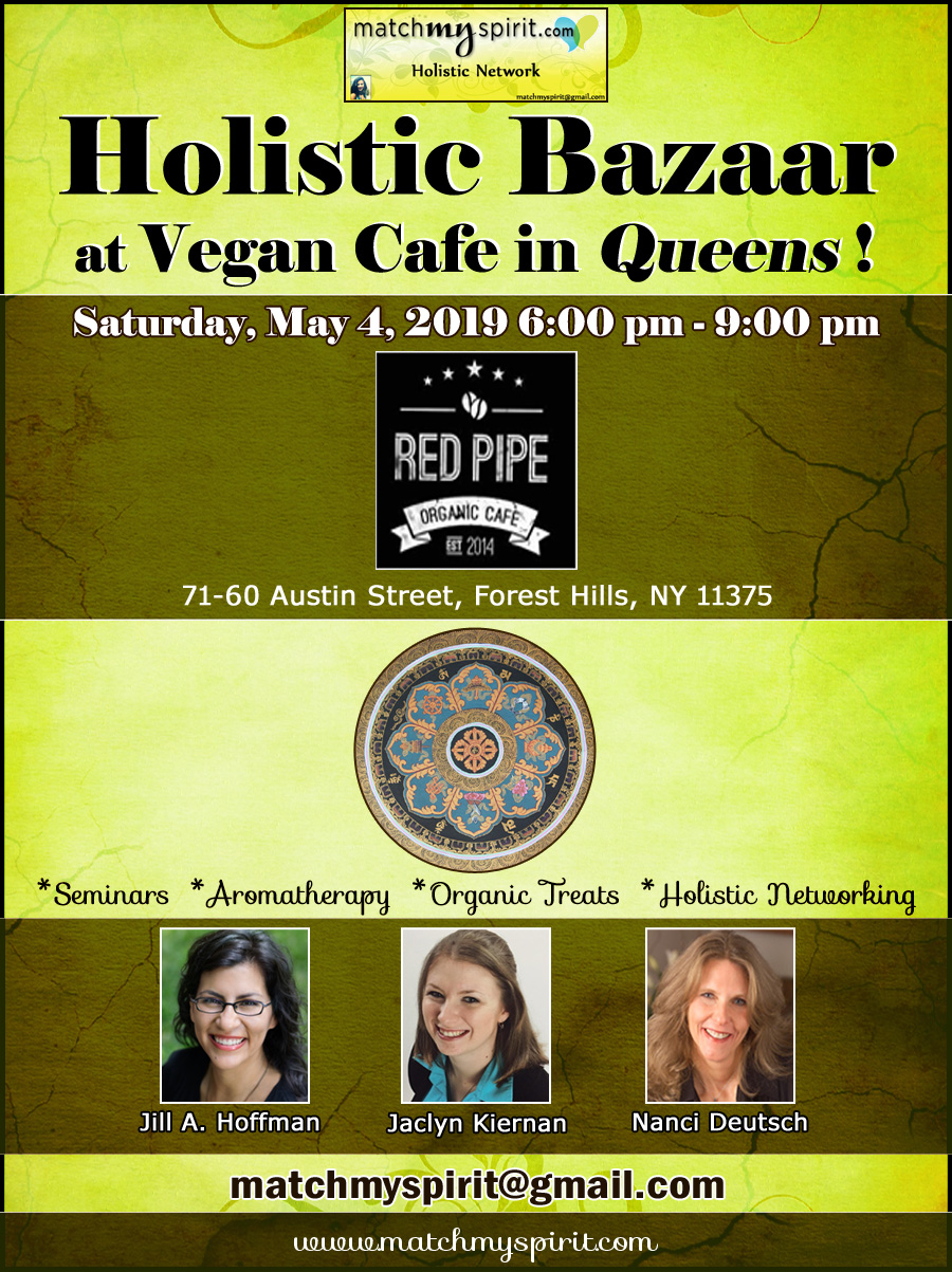 Holistic Bazaar at Vegan Cafe in Queens !