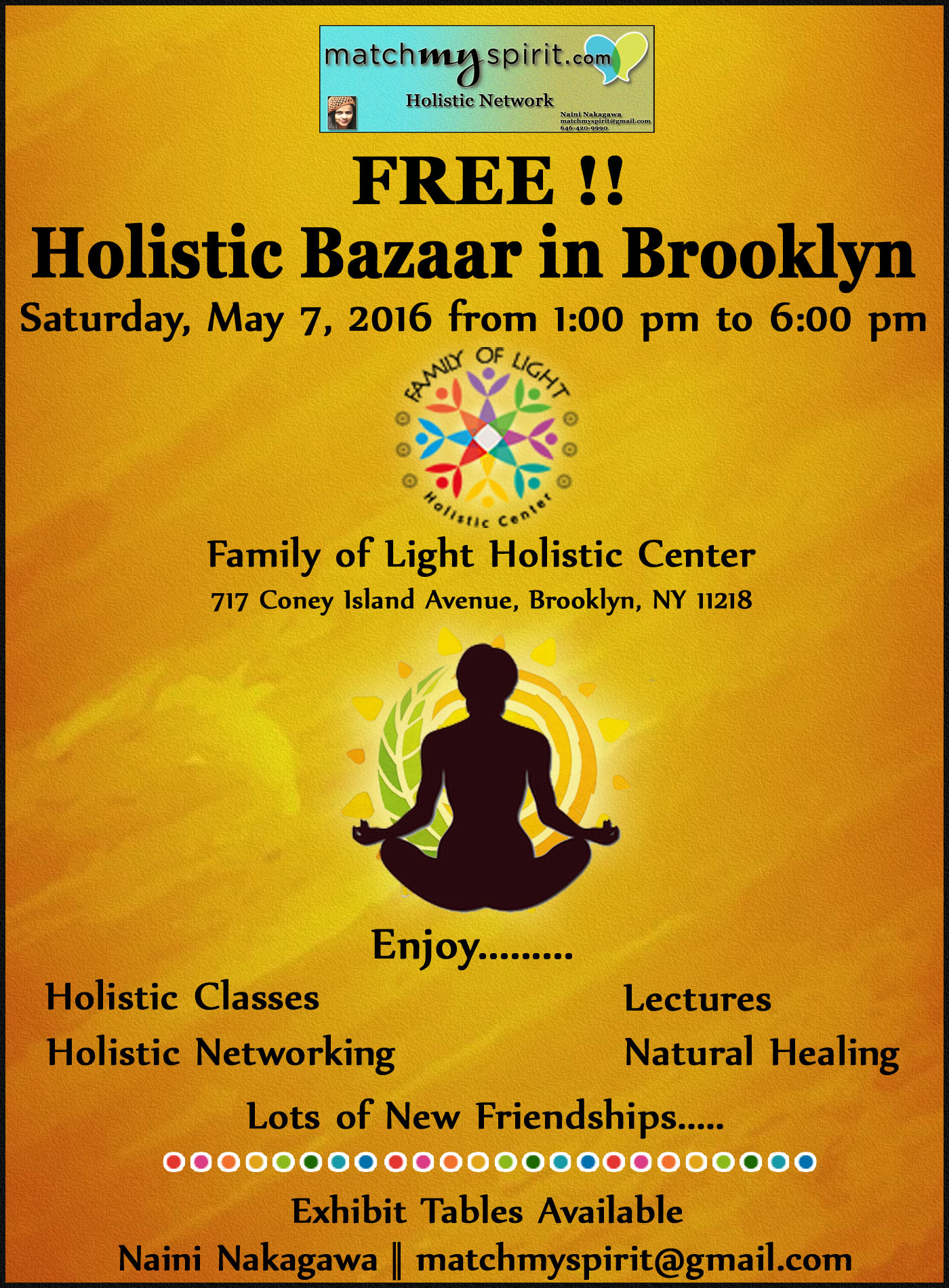 Free holistic bazaar in brooklyn alternative to the for Things to do new york today