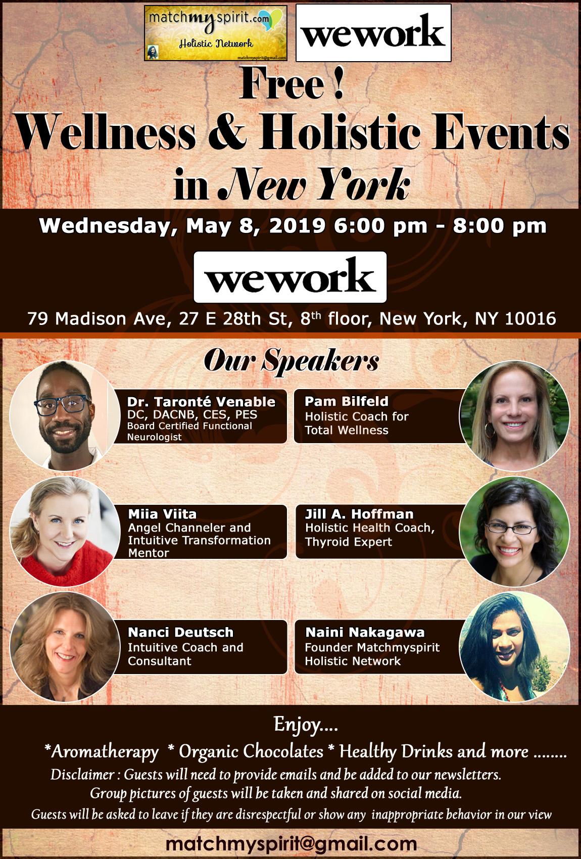 Free ! Wellness & Holistic Health Event NYC