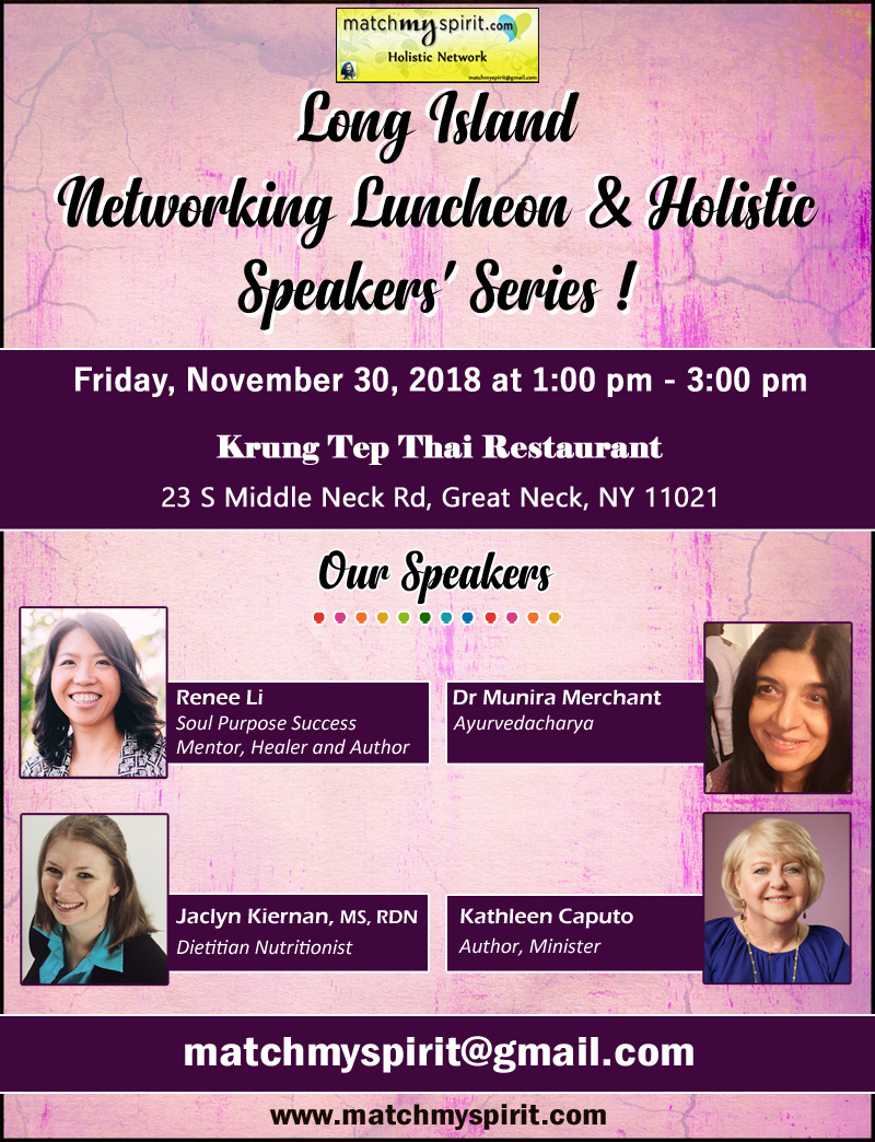 Long Island Networking Luncheon & Holistic Speakers' Series
