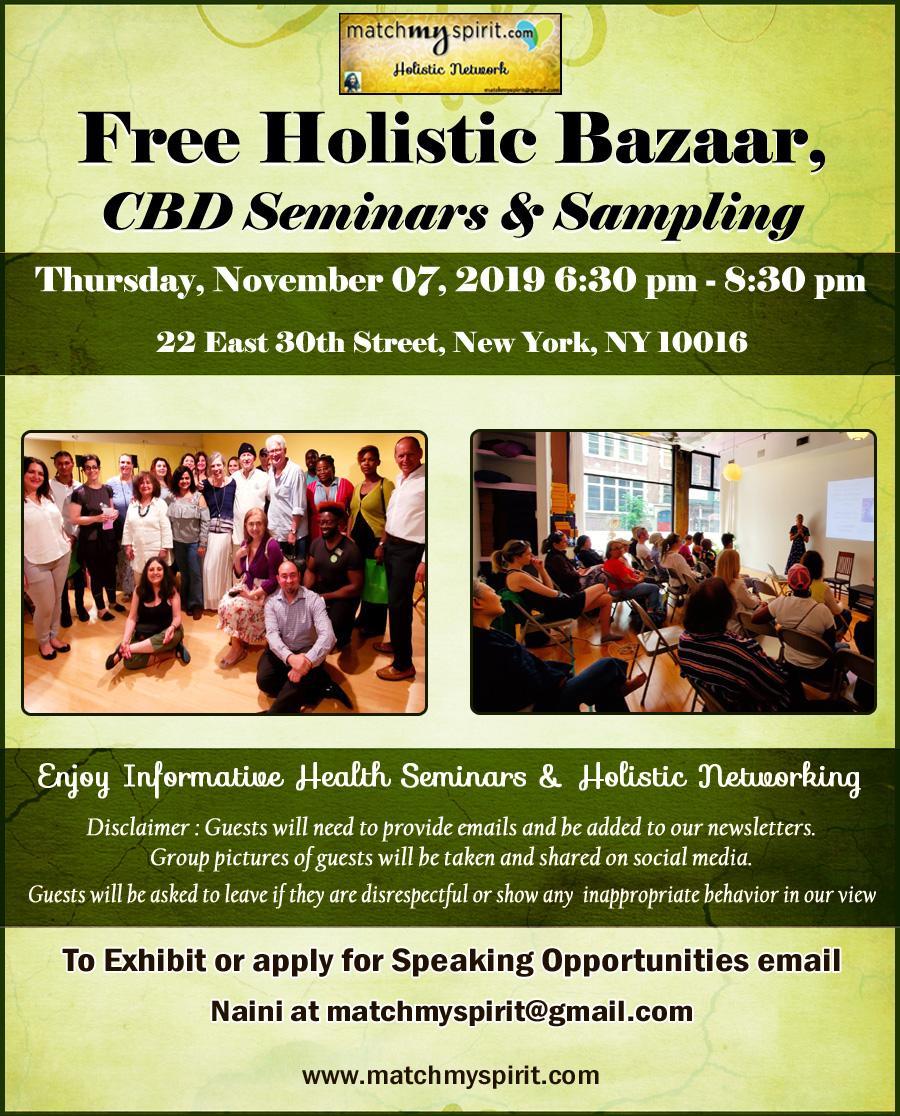 Free ! Holistic Bazaar, CBD Seminars & Sampling