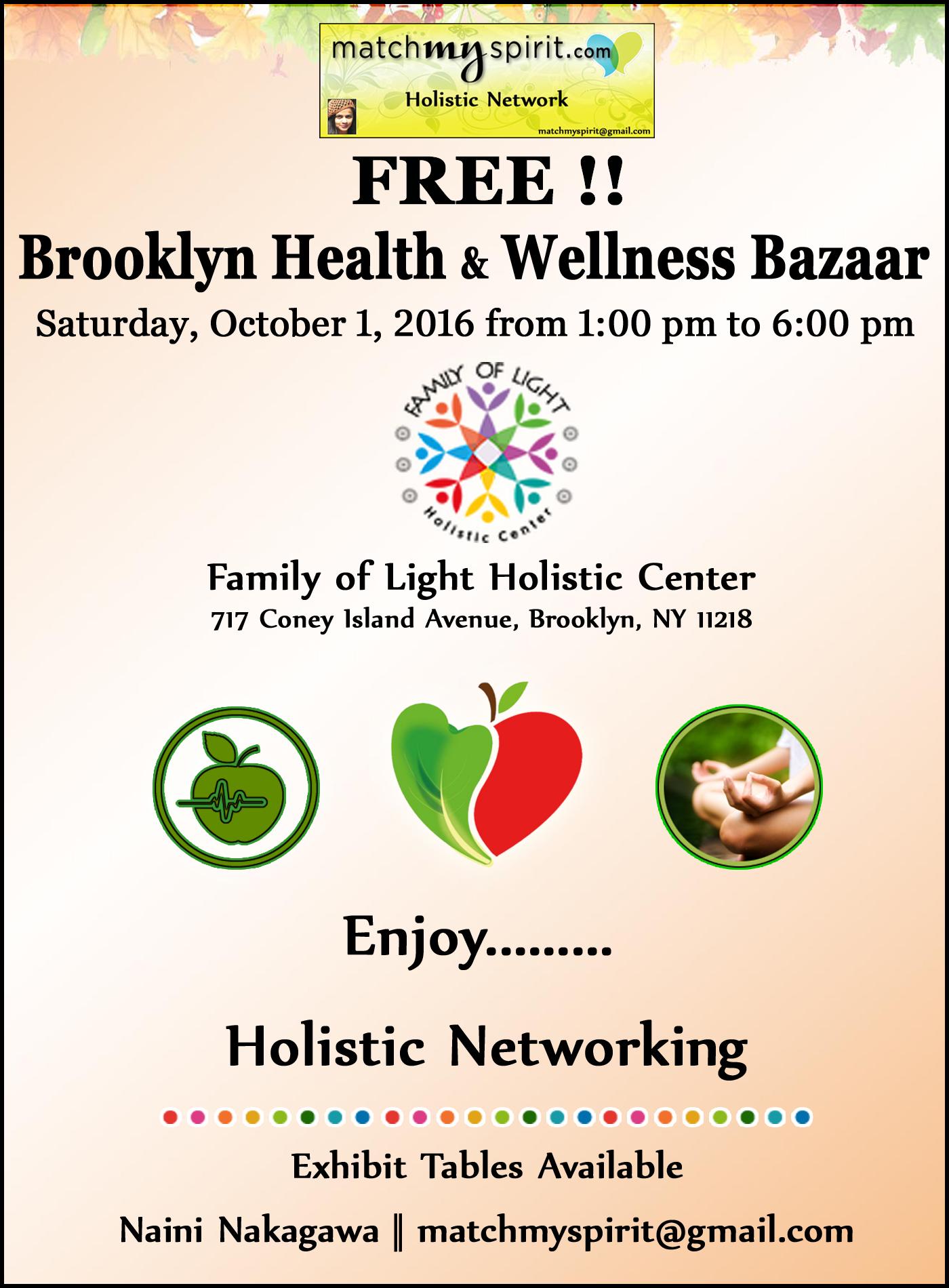 FREE!! Brooklyn Health & Wellness Bazaar