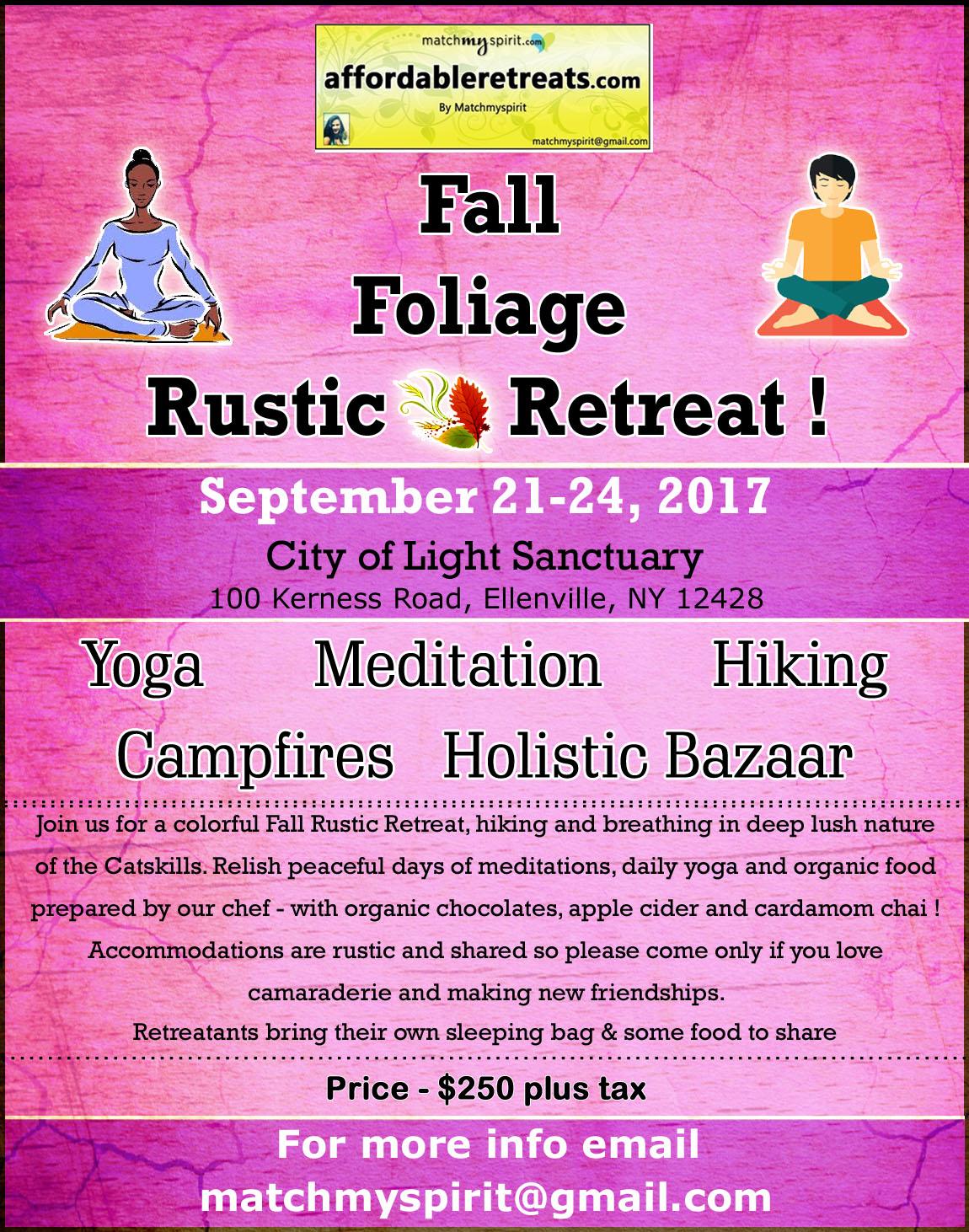Fall Foliage Affordable Rustic Retreat !
