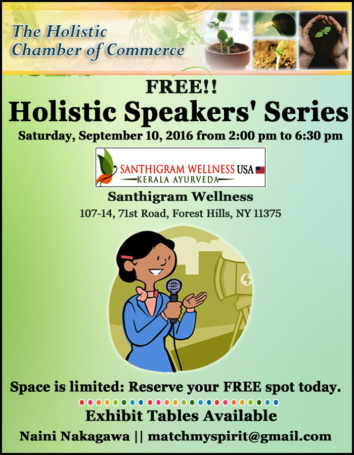 FREE!! Holistic Speakers' Series