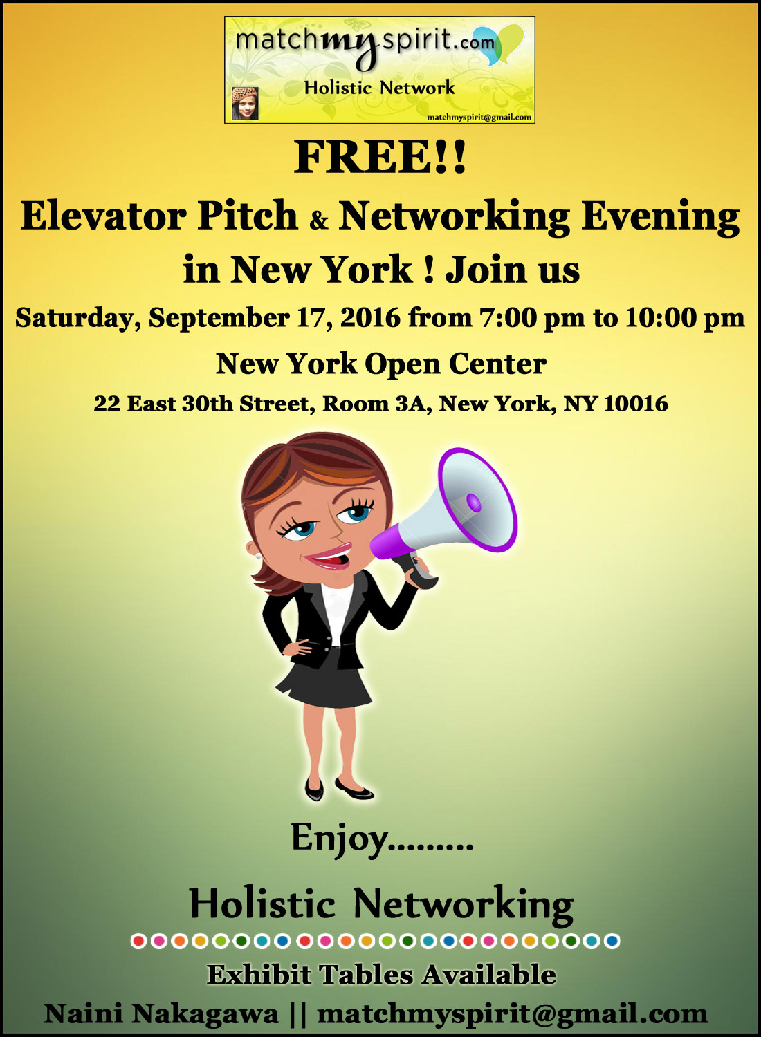 FREE!! Elevator Pitch & Networking Evening