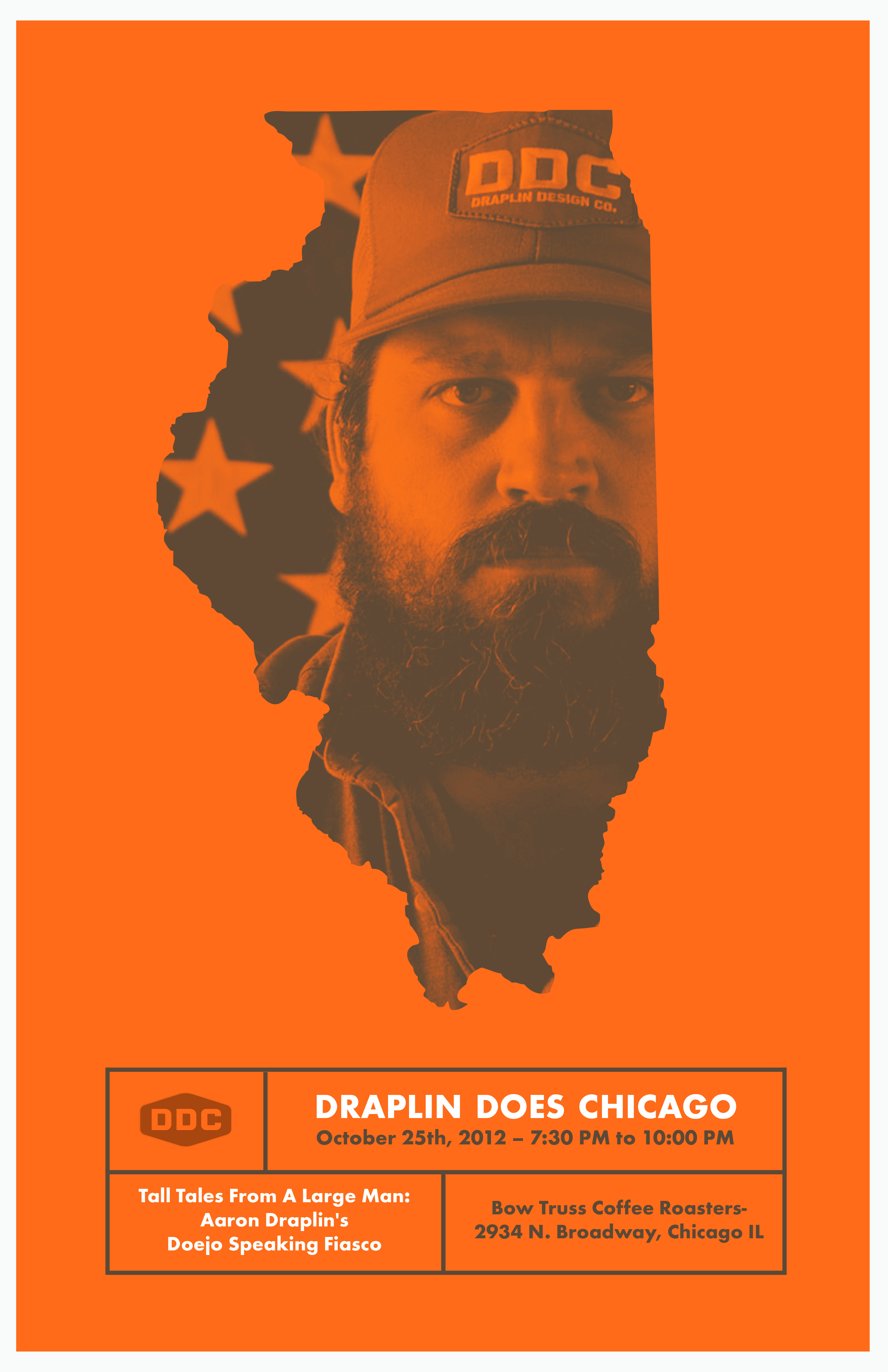 tall tales from a large man aaron draplin 39 s doejo speaking fiasco tickets thu oct 25 2012 at. Black Bedroom Furniture Sets. Home Design Ideas