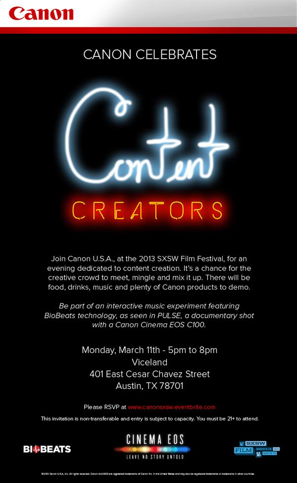 Canon Celebrates Content Creators