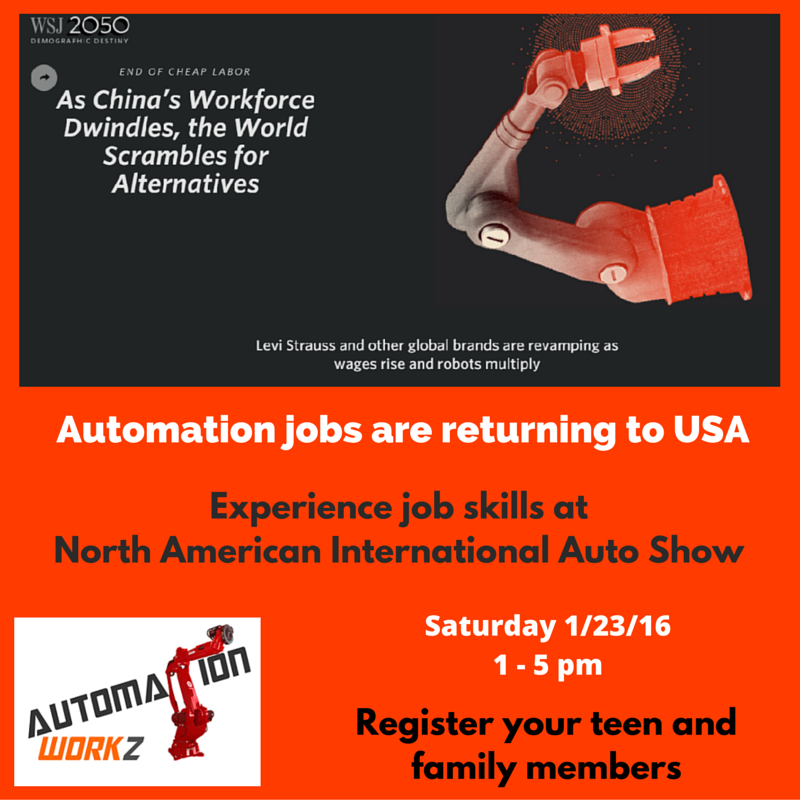 Automation Jobs are returning to USA