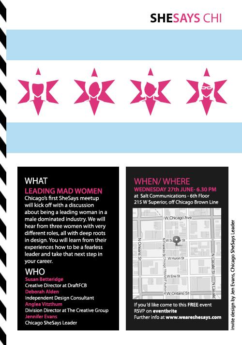 SheSays Chicago June 27 2012 Invite