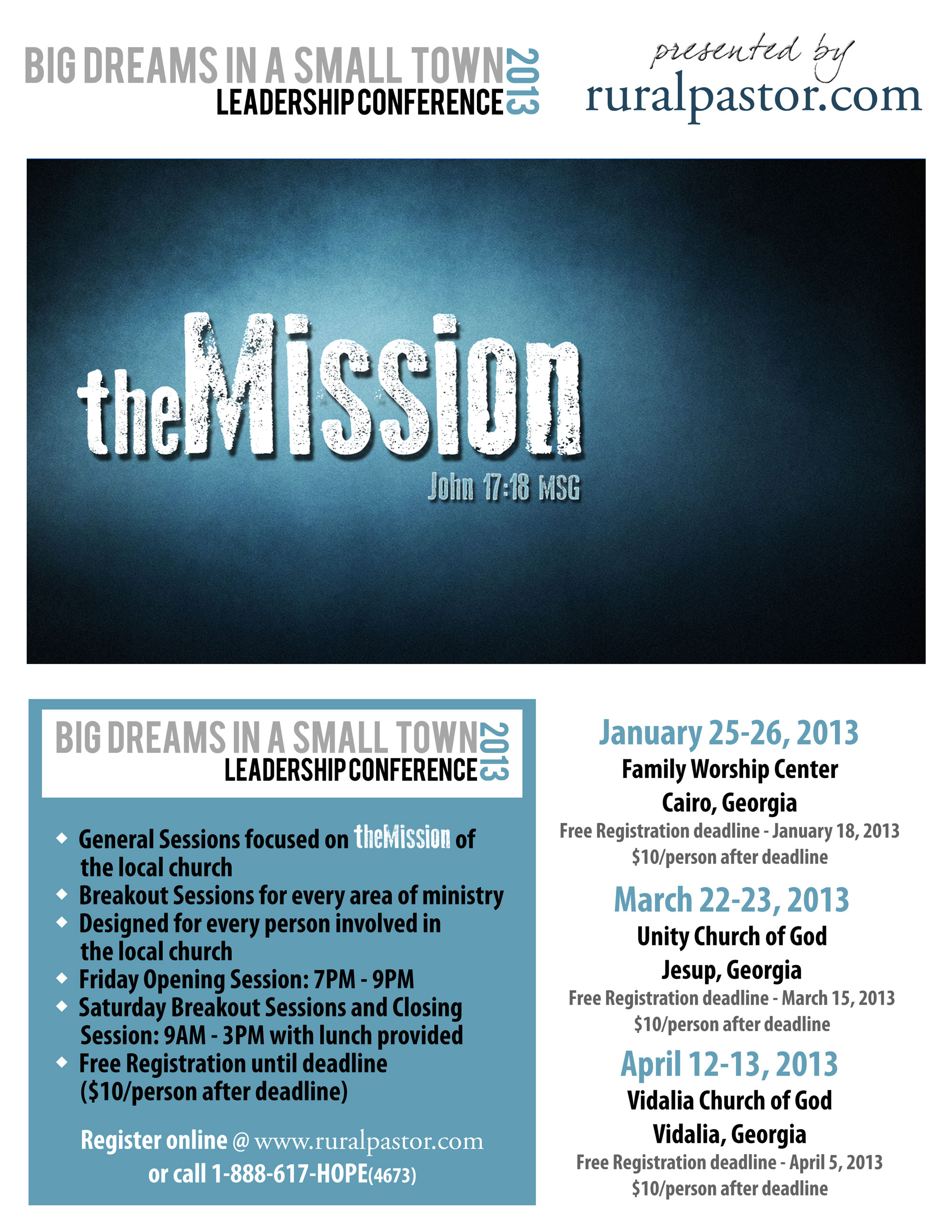 2013 Big Dreams In Small Town Conference