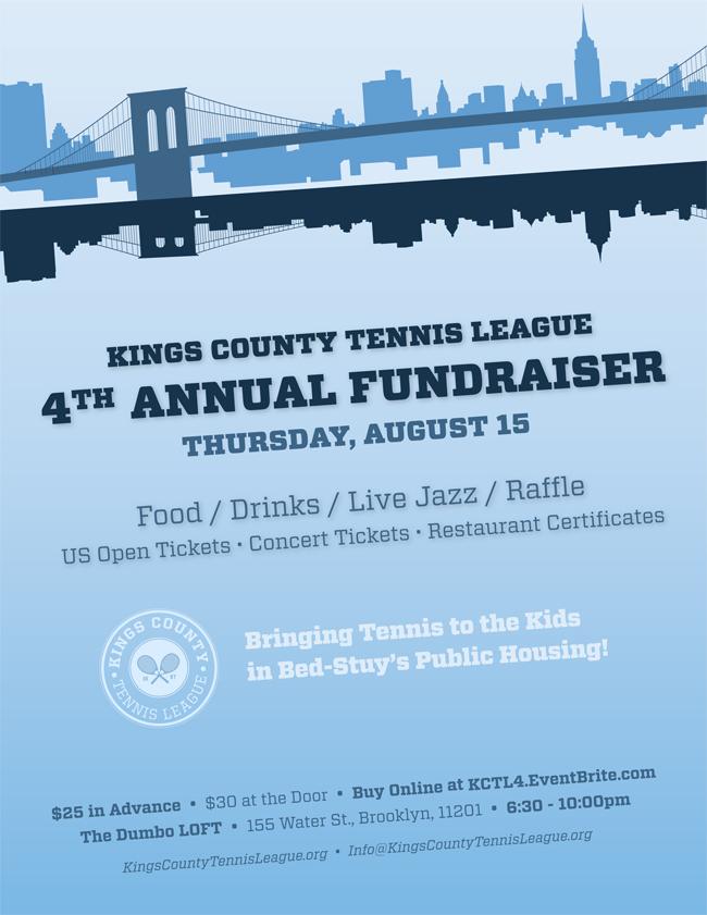 Kings County Tennis League 4th Annual Fundraiser