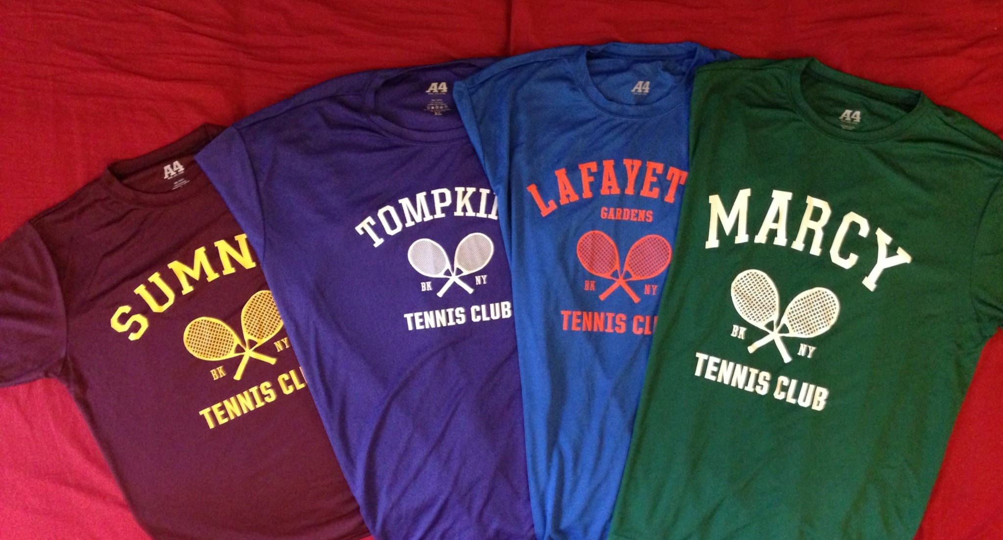 Kings County Tennis League Tshirts - Marcy, Sumner, Tompkins and Lafayette Gardens