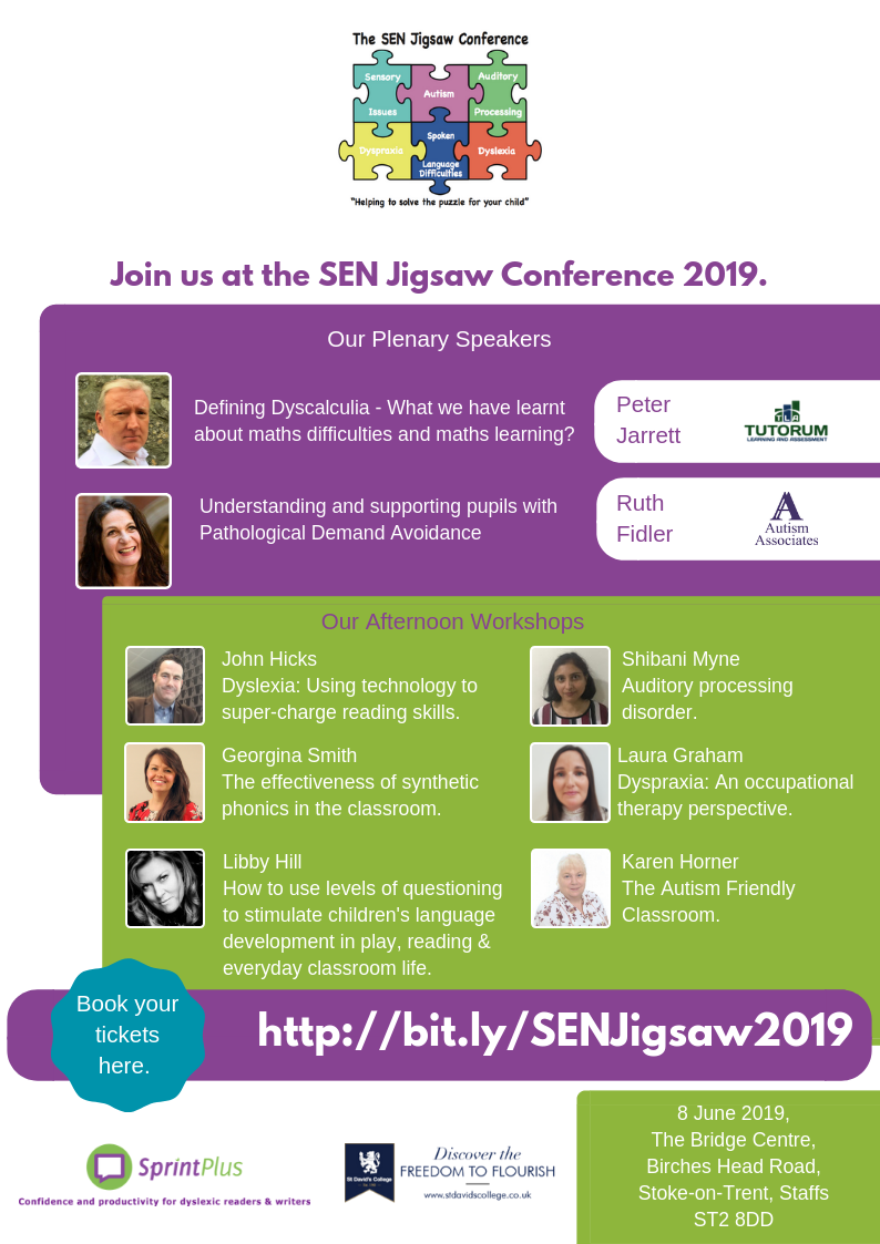 The SEN Jigsaw Conference Lineup