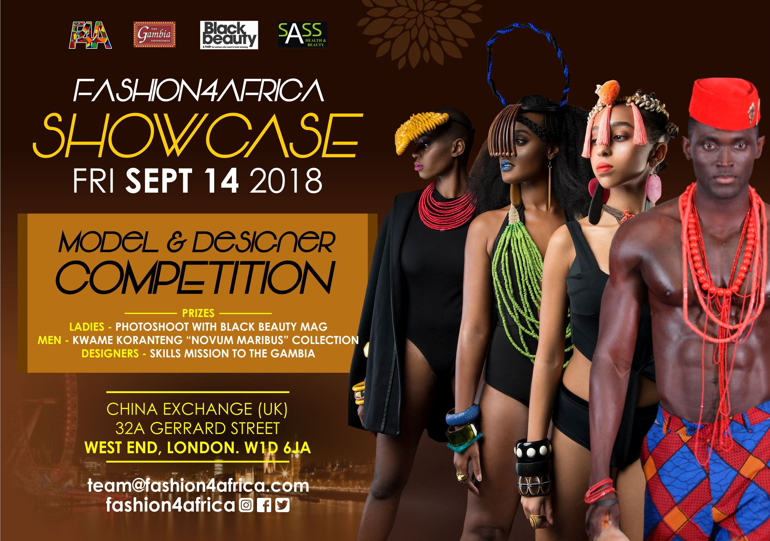 Face of Fashion4Africa flyer