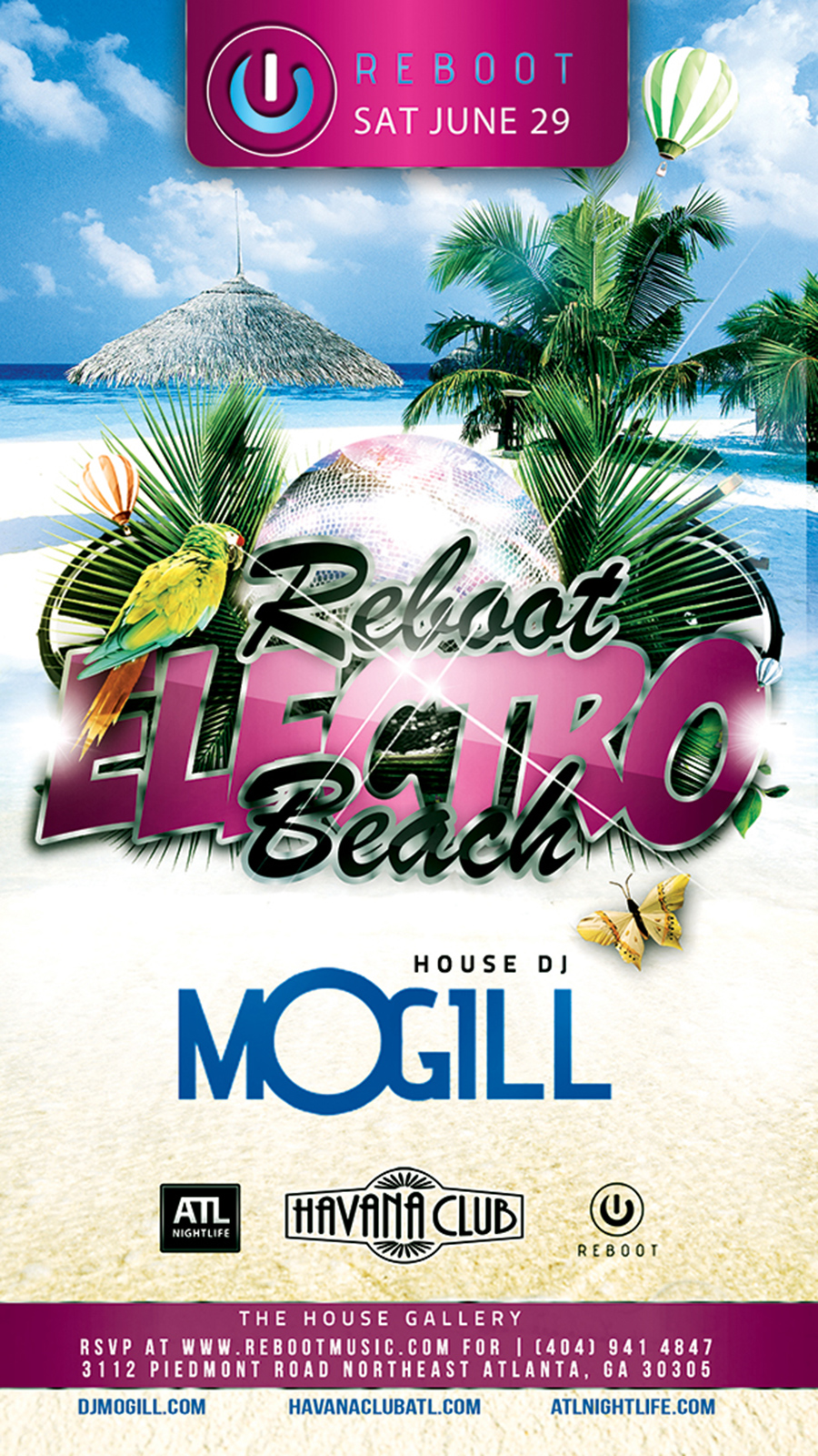 Reboot Special Event with MOGILL - Sat, June 29th - Havana Club
