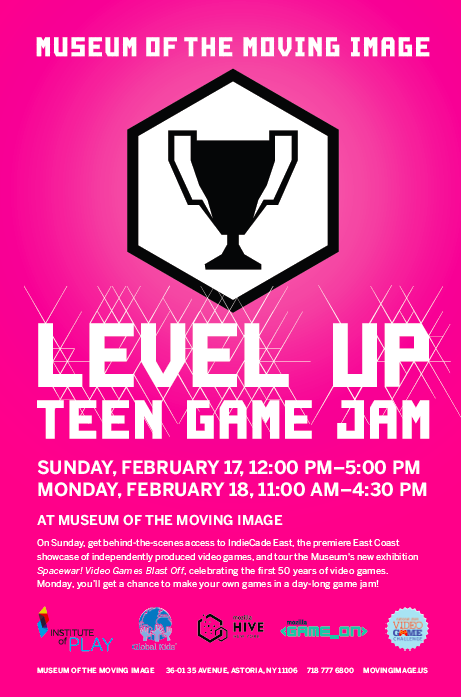 Level Up Teen Game Jam Flyer