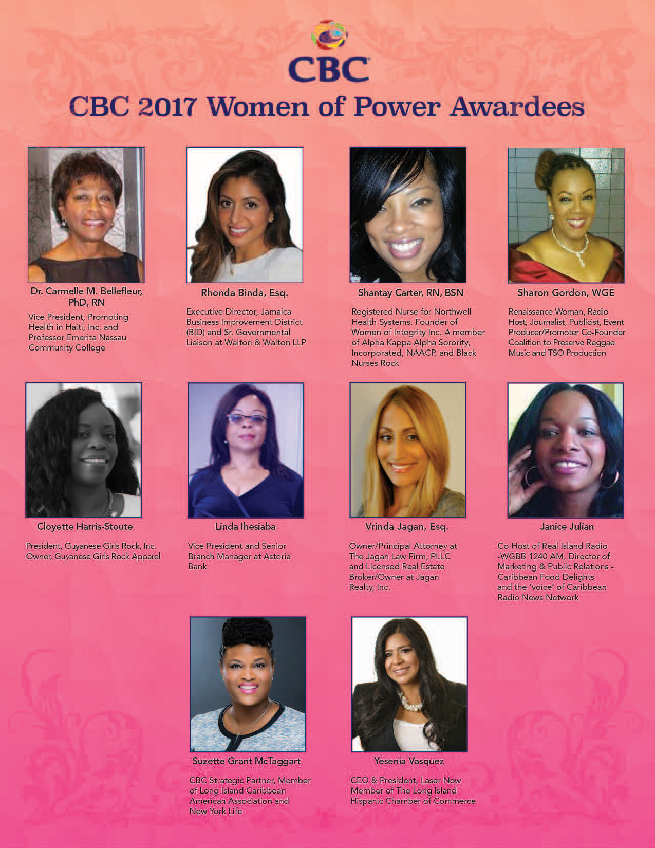 CBC 2017 Women of Power Honorees