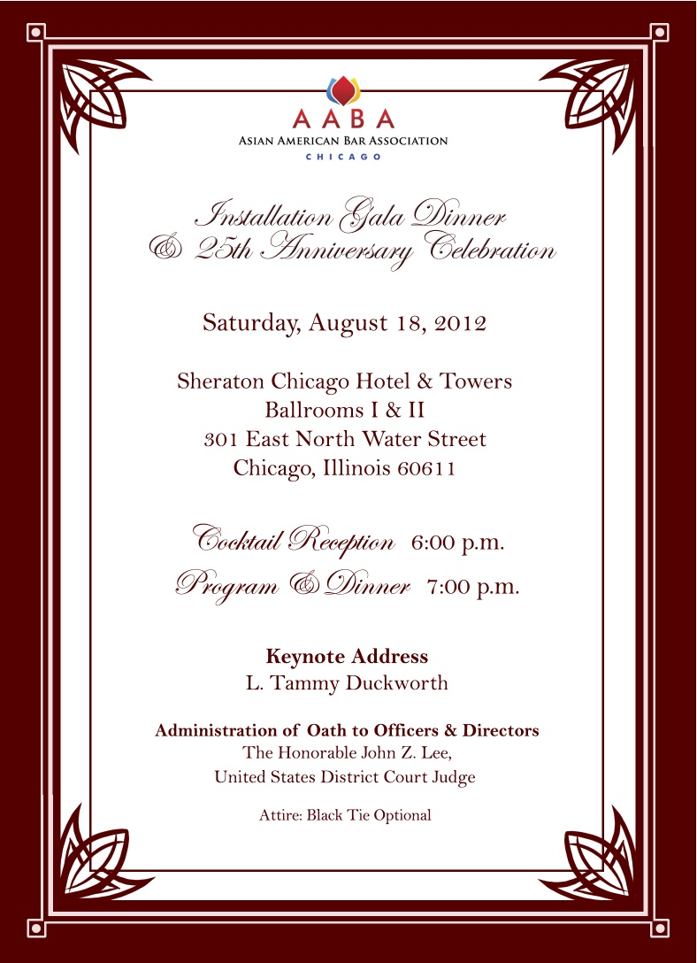 AABA-Chicago Installation Gala Dinner & 25th Anniversary ...