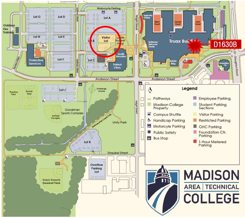 Madison College Parking Map