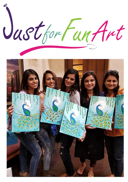 Painting at Just For Fun Art in Sacramento