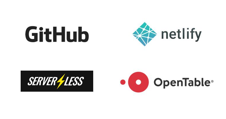 Sponsors github, netlify, serverless, opentable