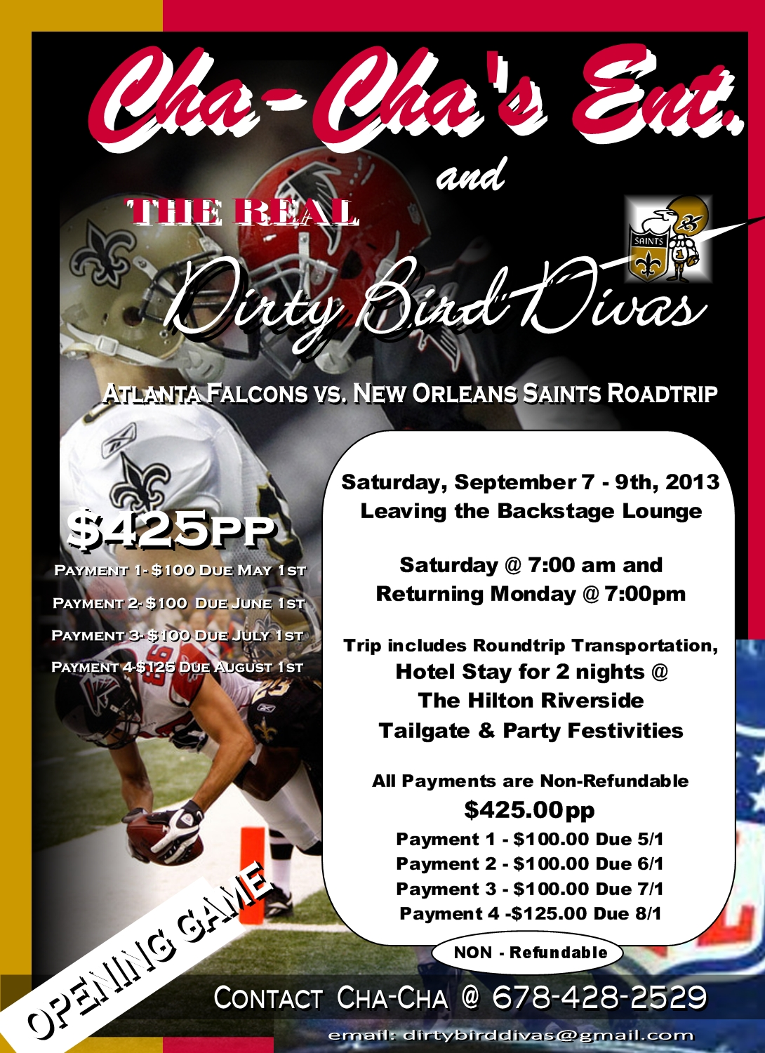 CHA-CHA ENT & DIRTY BIRD DIVAS ROADTRIP TO NEW ORLEANS