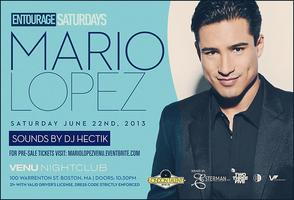 Mario Lopez Hosts Entourage Saturdays