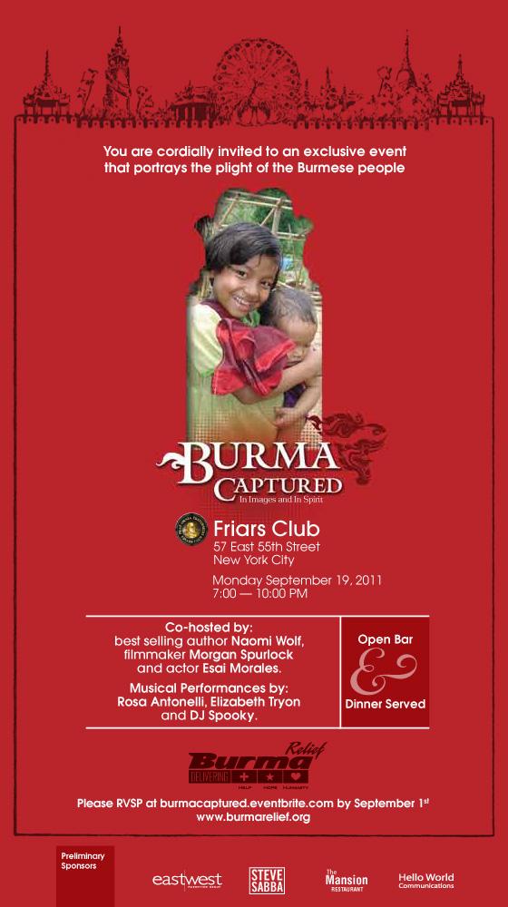 Burma Relief Invite - Burma Captured