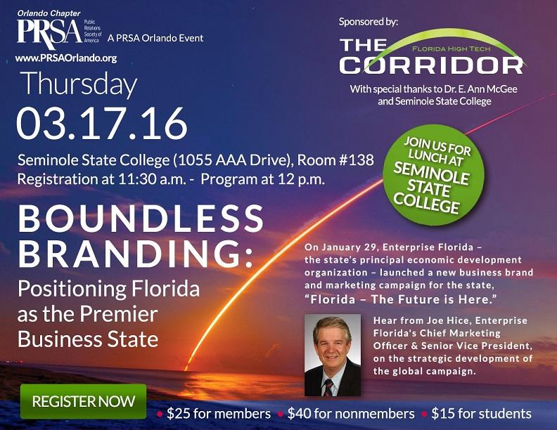Boundless Branding - Enterprise Florida March 2016 PRSA Orlando Program