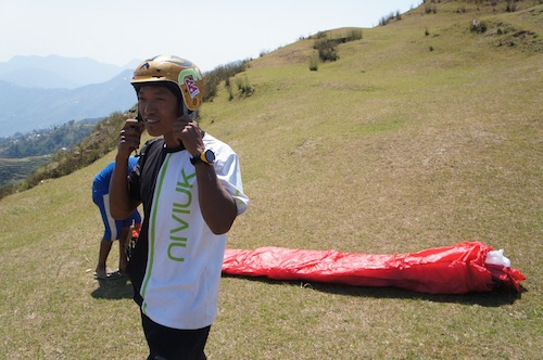 Babu is building his own paragliding resort in Sirkot near Pokhara in Nepal