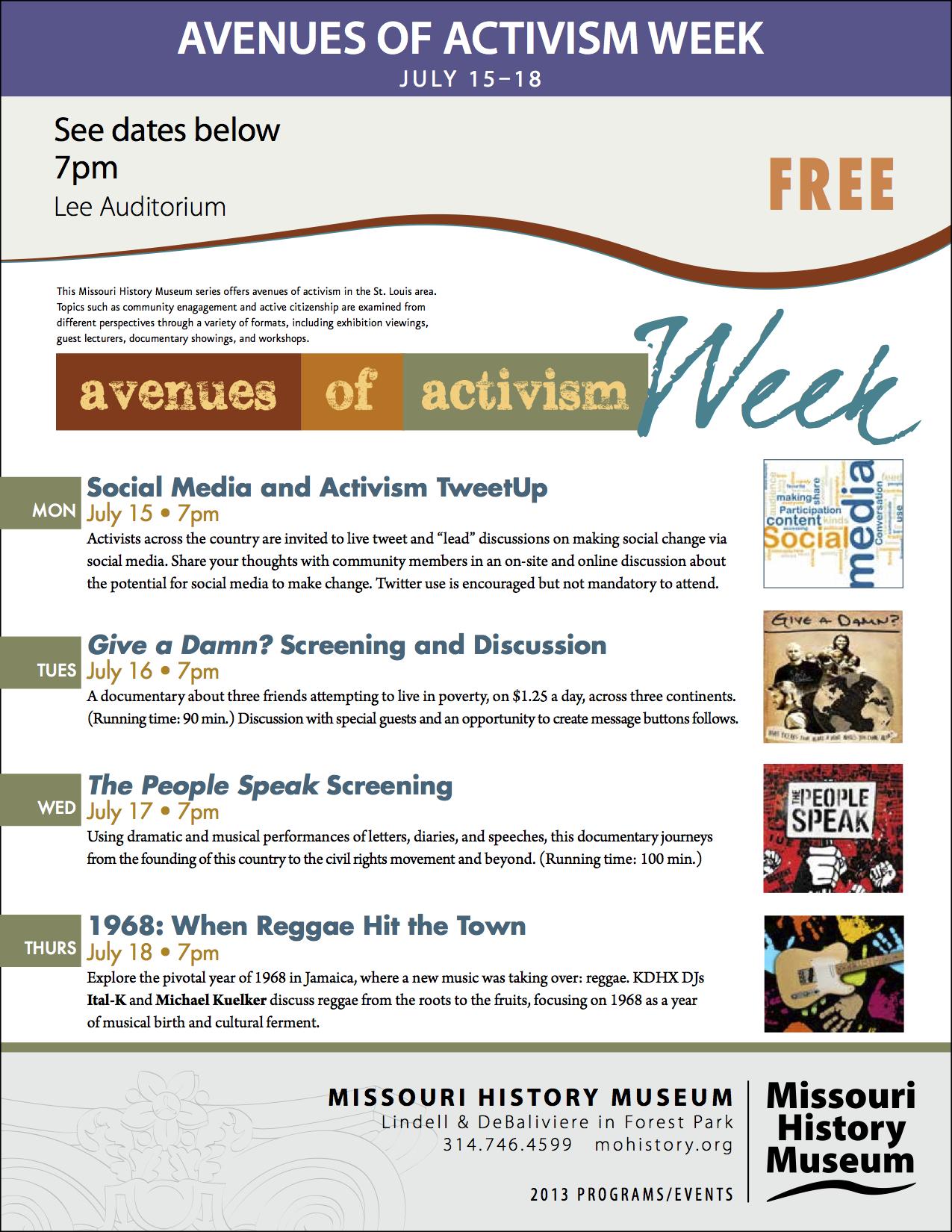 Avenues of Activism Week