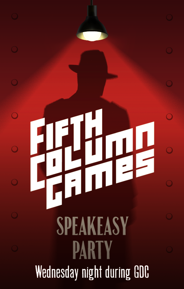 Fifth Column Games Speakeasy party