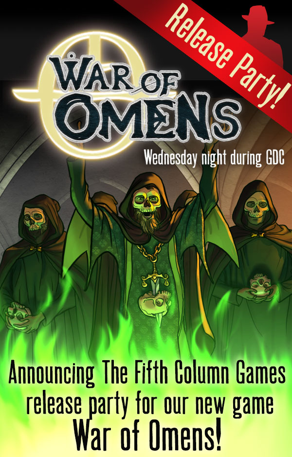 War of Omens GDC Launch Party, Wednesday 19th 2014