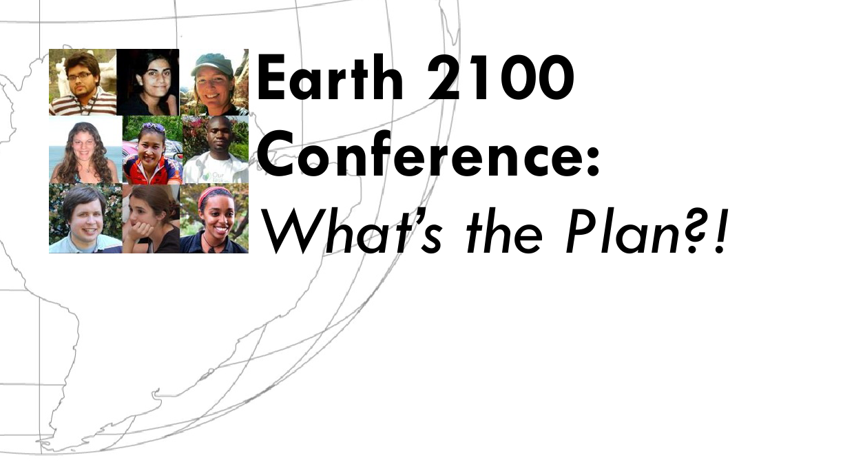 Our Task's Earth 2100 Conference: What's the Plan?! Page Header