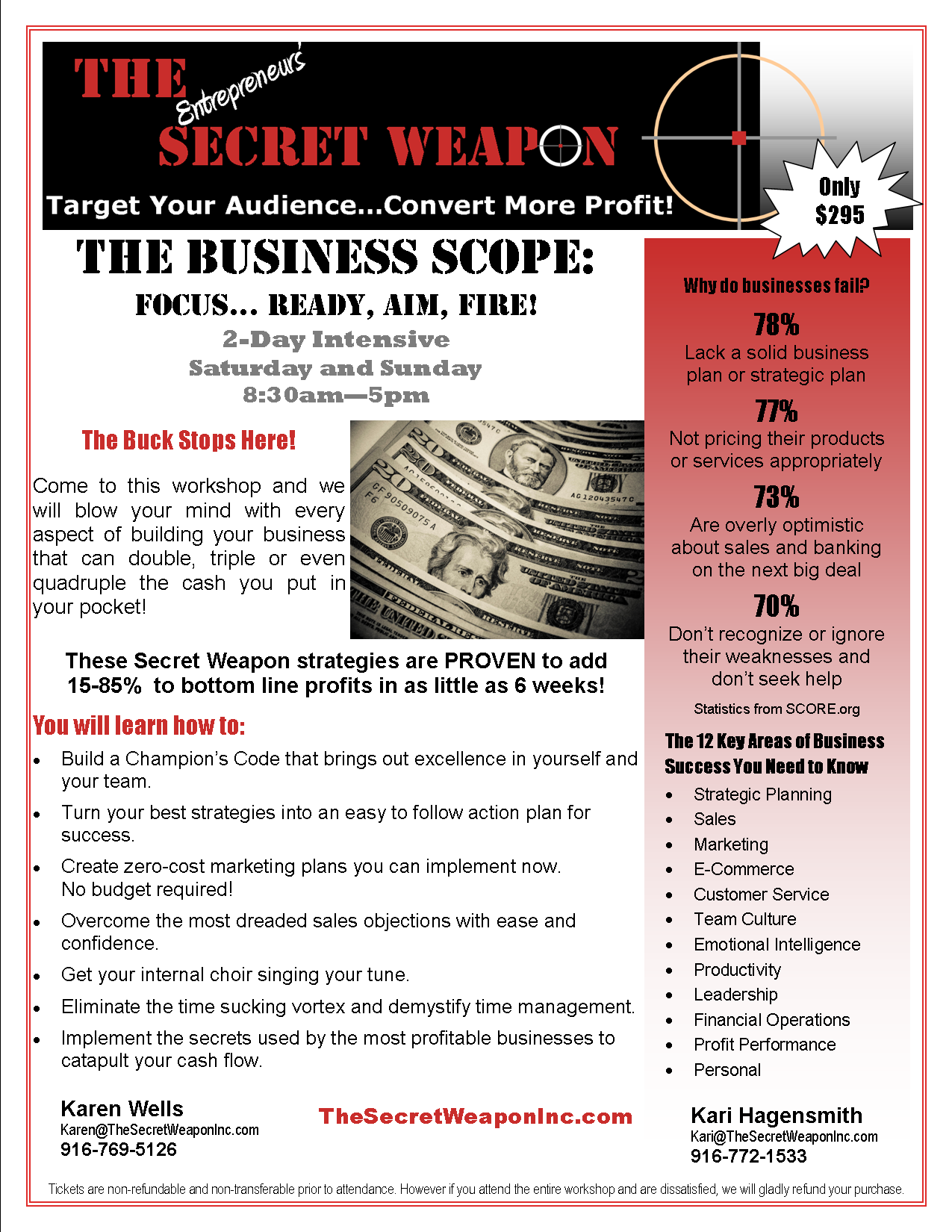 The Secret Weapon Inc., The Business Scope