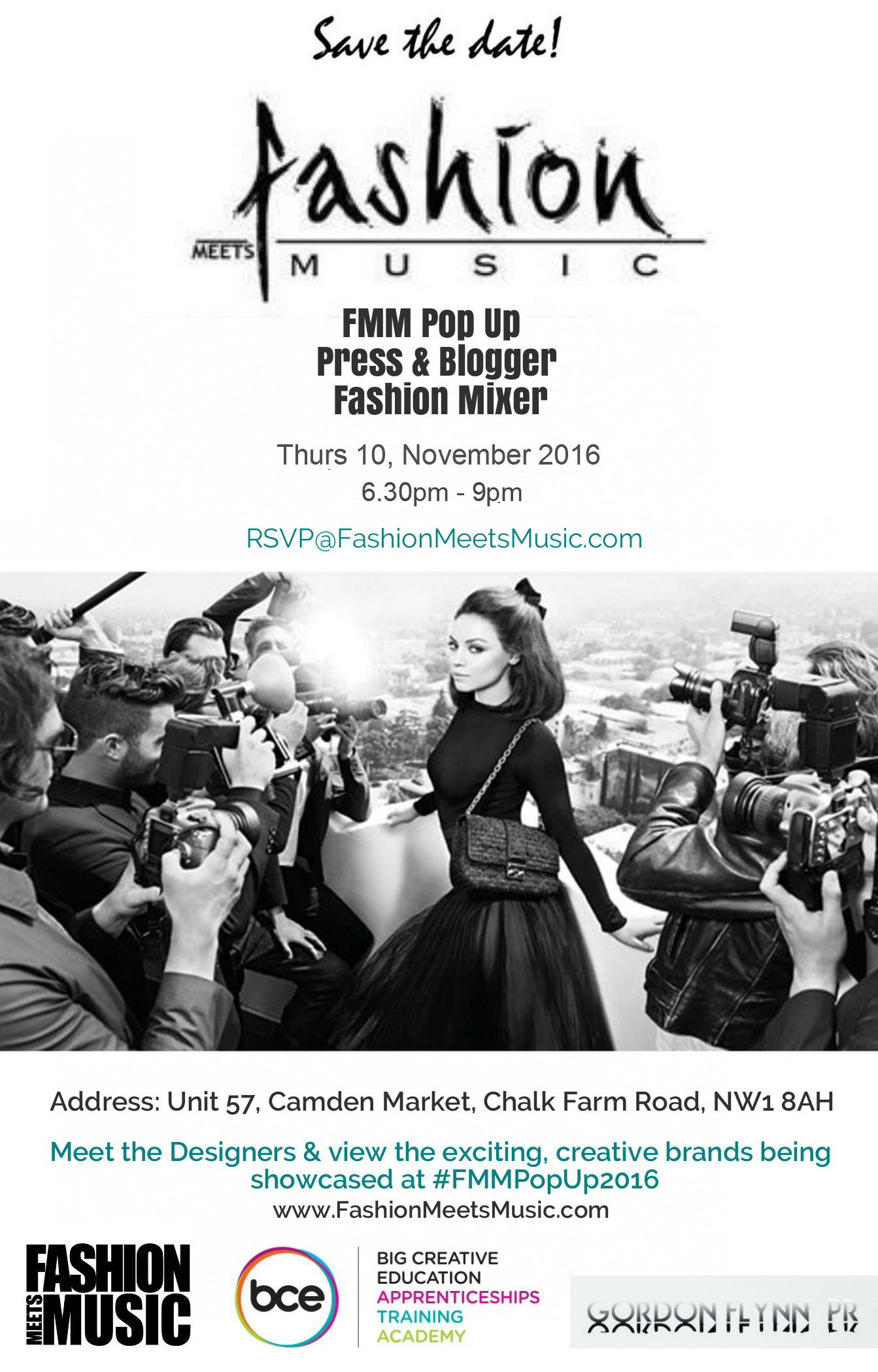 Fashion Meets Music Press and Blogger Fashion Mixer