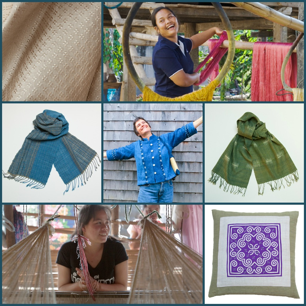 TAMMACHAT Natural Textiles' handwoven, fair trade textiles