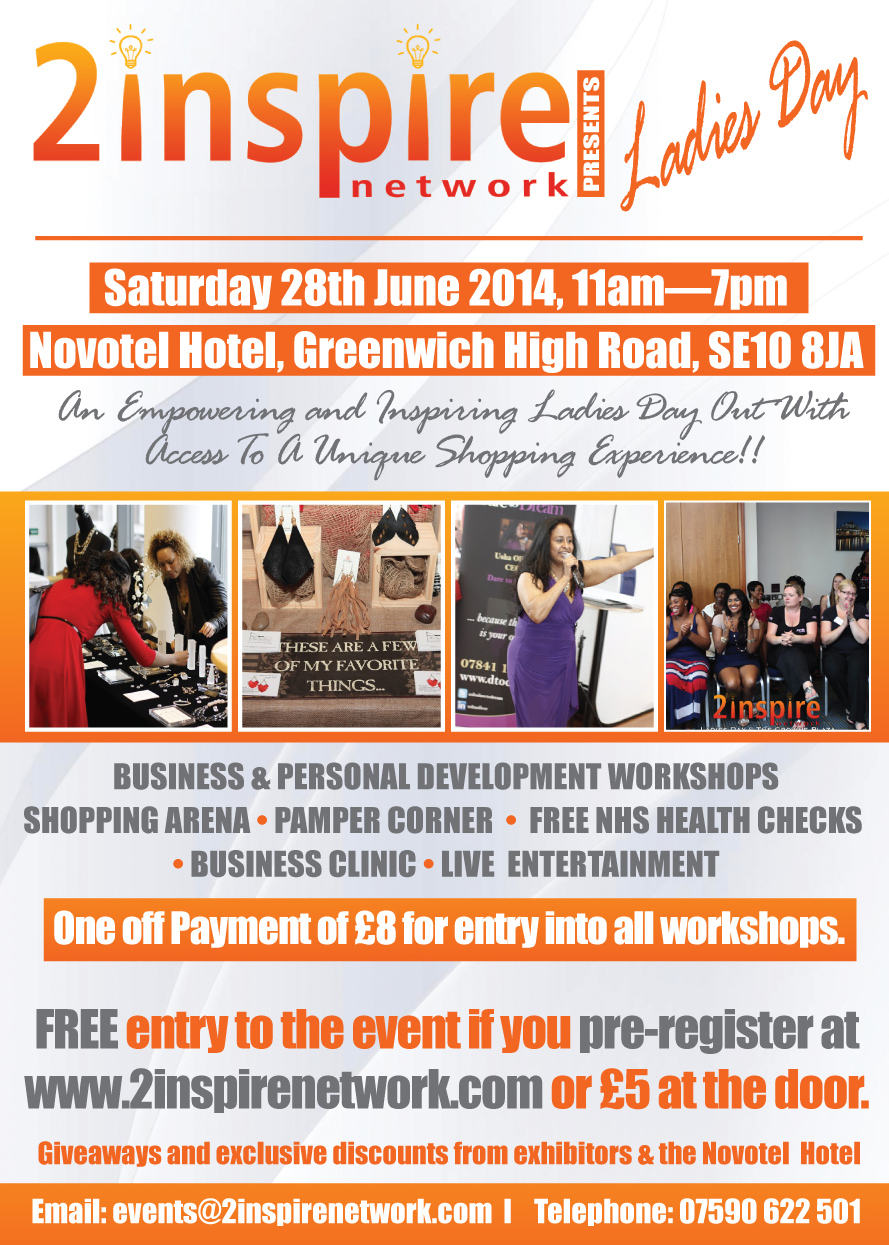 ladiesflyer28129 1 London event   2inspire Network Ladies Day