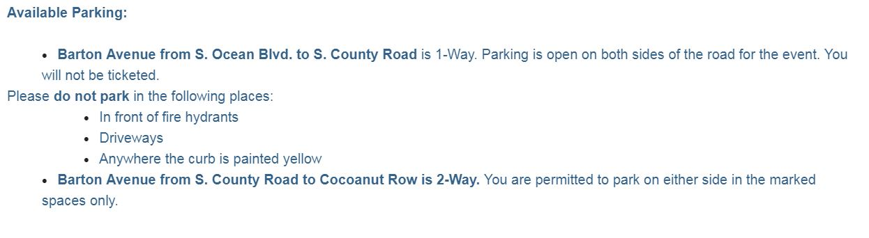 Directions for Available Parking