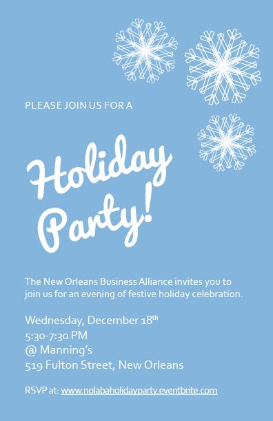 2013 NOLABA Holiday Party Invitation