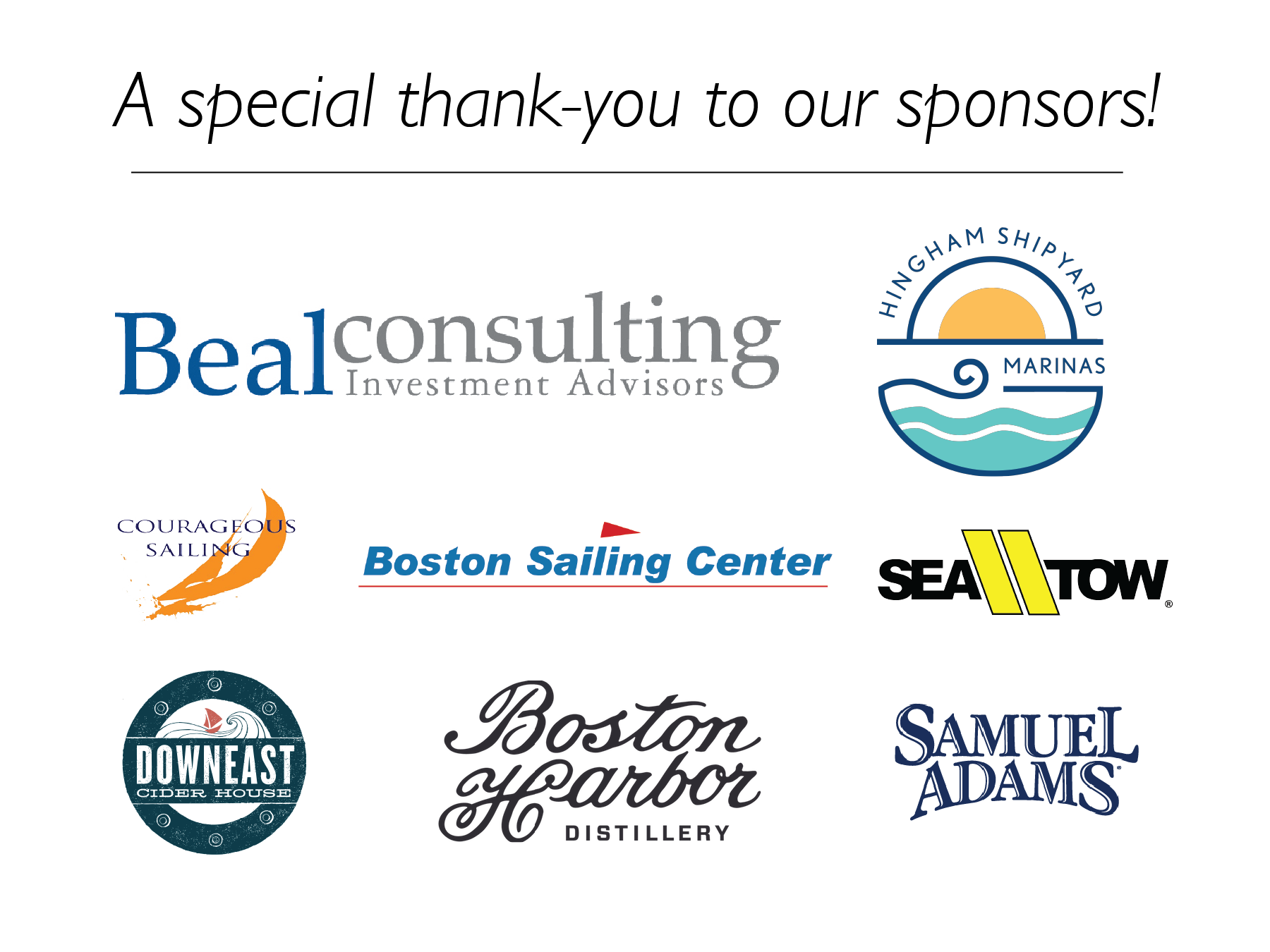 Boston Harbor Islands Regatta Sponsors
