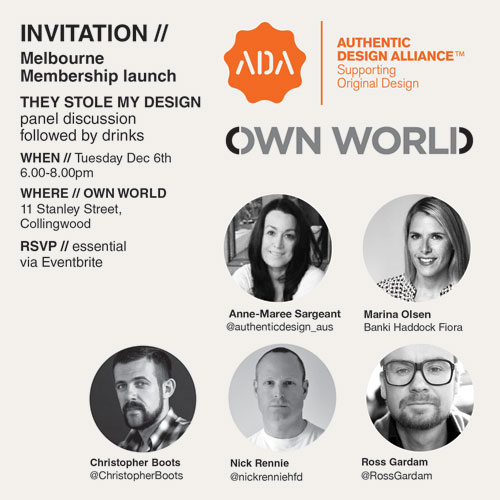 Authentic Design Alliance Melb invite