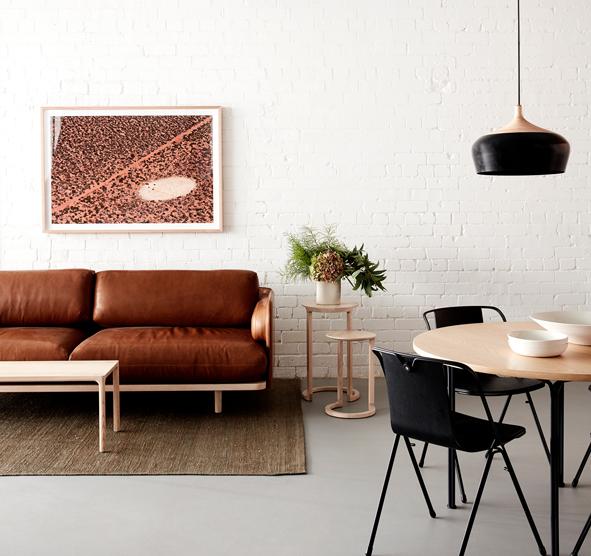 NAU Aran Sofa by Adam Goodrum, Strand chairs by Adam Cornish