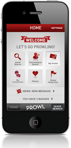 Prowl app home screen