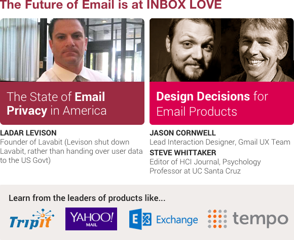Levison, Cornwell, Whittaker Featured Presentations for Inbox Love 2013